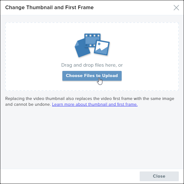 Change Content Thumbnail and First Frame – TechSmith Support