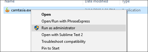 Camtasia (Windows): Error 5: Access Is Denied – TechSmith