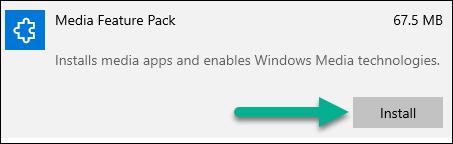 Camtasia (Windows): Camtasia Requires Media Feature Pack for