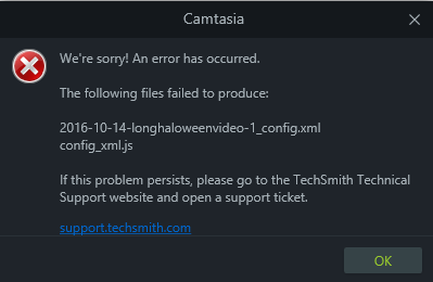 we were unable to validate your software key camtasia 9