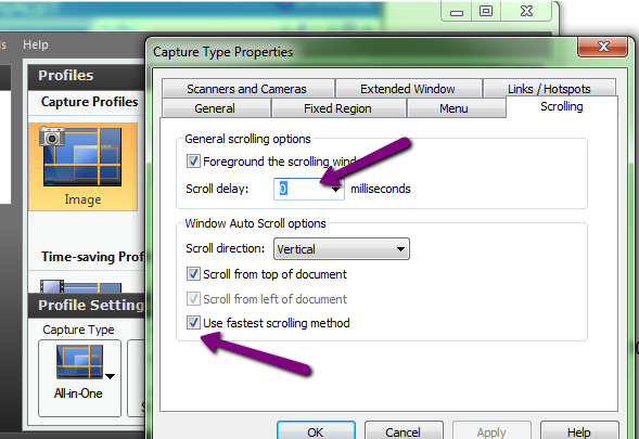 Snagit (Windows): Troubleshoot Scrolling Capture for