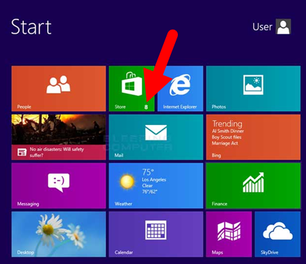 Updating apps in windows 8