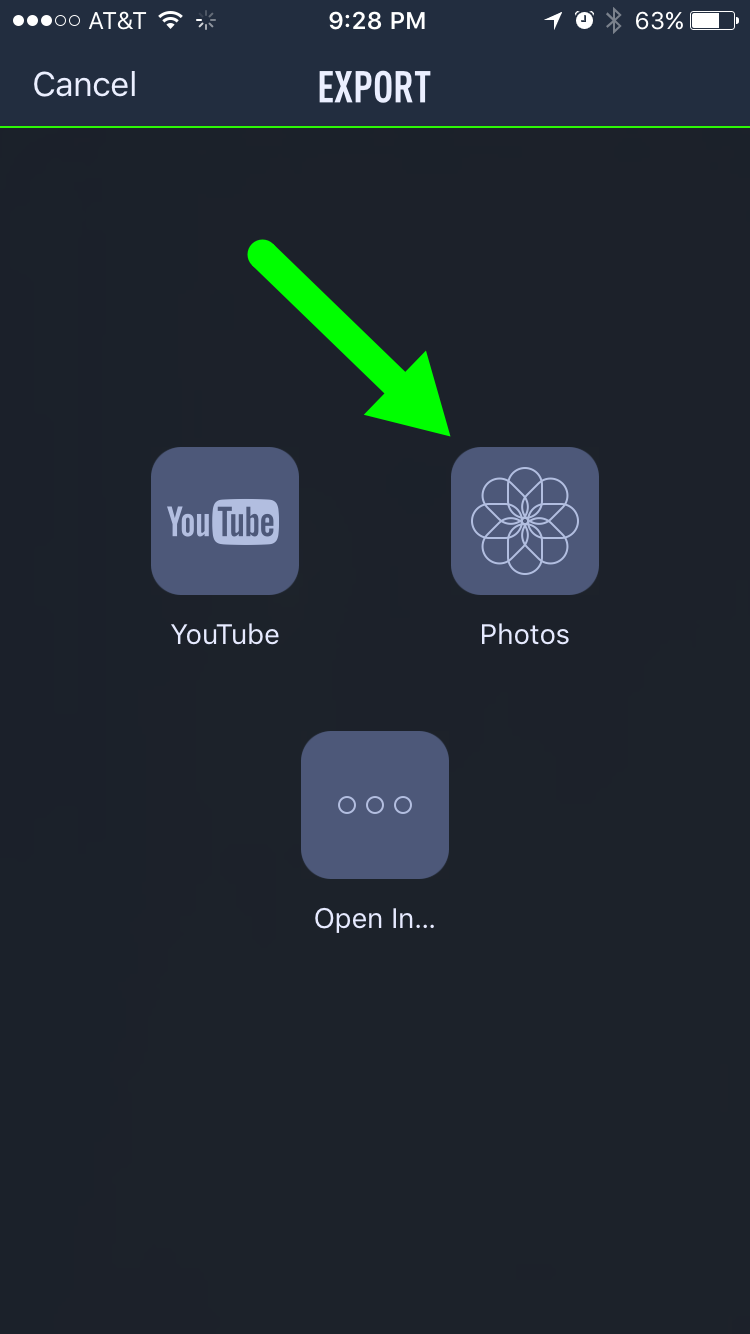 Export and Save Videos to Your Photos App/Camera Roll